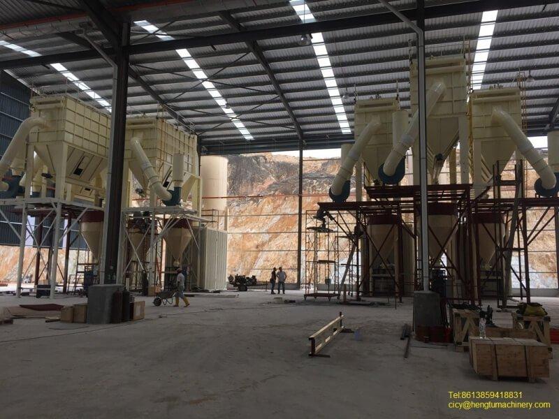 Limestone Grinding Line in Malaysia 1